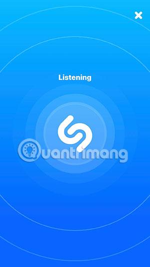 Để Shazam nghe bài nhạc muốn tìm