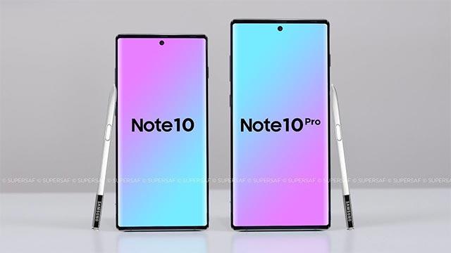 Note 10 sẽ có 2 phiên bản với kích thước khác nhau