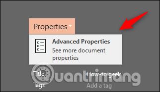 Chọn Advanced Properties