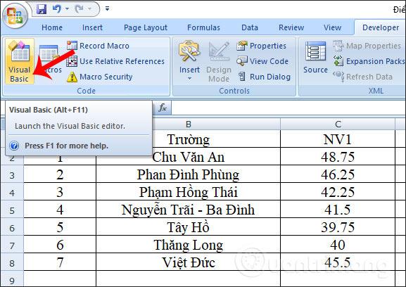 Cách tự động nổi bật dòng, cột trong Excel