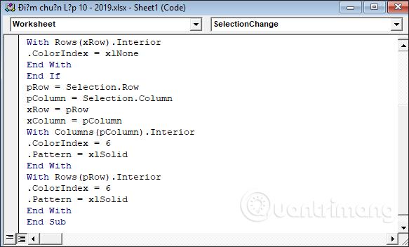 Cách tự động nổi bật dòng, cột trong Excel - Ảnh minh hoạ 7