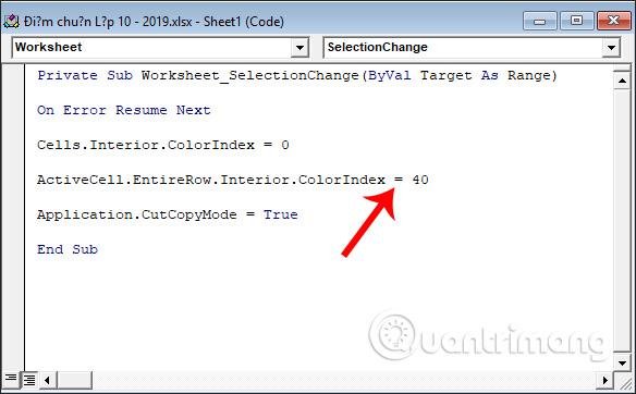 Cách tự động nổi bật dòng, cột trong Excel - Ảnh minh hoạ 10