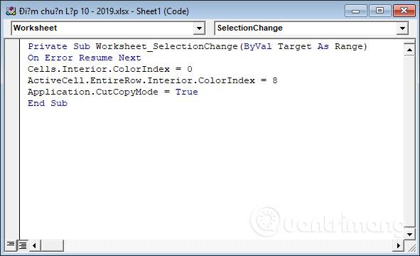 Cách tự động nổi bật dòng, cột trong Excel - Ảnh minh hoạ 3
