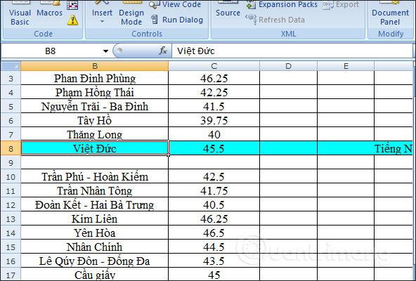 Cách tự động nổi bật dòng, cột trong Excel - Ảnh minh hoạ 4