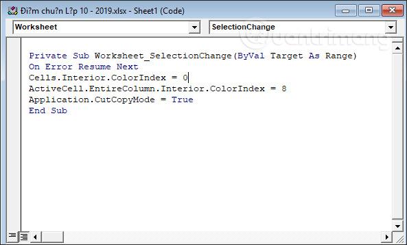Cách tự động nổi bật dòng, cột trong Excel - Ảnh minh hoạ 5