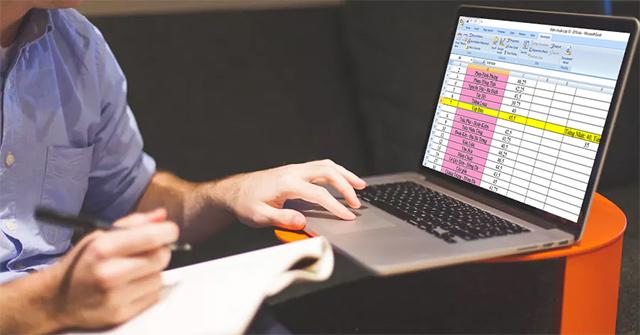 Cách tự động tô màu hàng, cột trong Excel