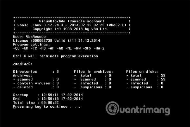 16 công cụ diệt virus có khả năng boot miễn phí - Ảnh minh hoạ 12