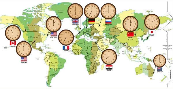 Múi giờ của các quốc gia