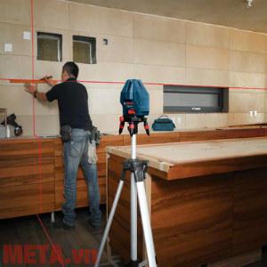 Máy cân mực laser hỗ trợ đắc lực trong thi công, lắp đặt nội thất.