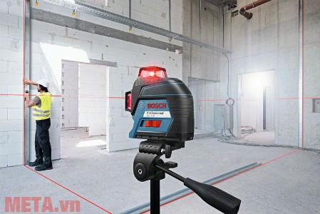 Máy phát tia laser đỏ thích hợp dùng thi công trong nhà.