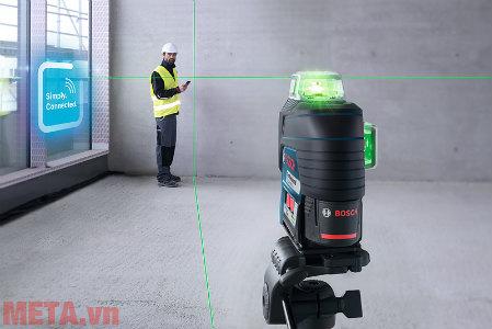 Máy bắn cốt laser tia xanh có độ nét cao, đo đạc chính xác trong điều kiện nắng gắt.