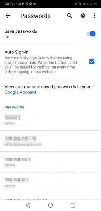 Bật tính năng lưu mật khẩu
