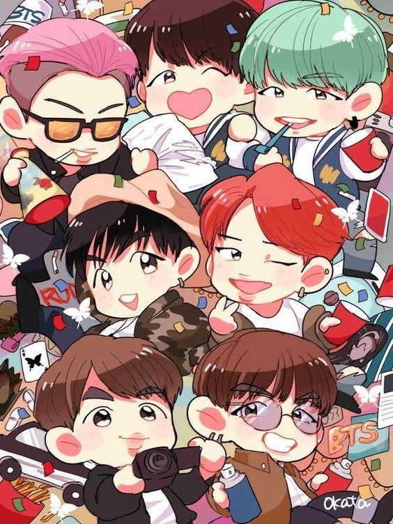 Tổng hợp hình ảnh BTS Chibi cực cute và đáng yêu 9