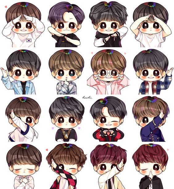 Tổng hợp hình ảnh BTS Chibi cực cute và đáng yêu 25