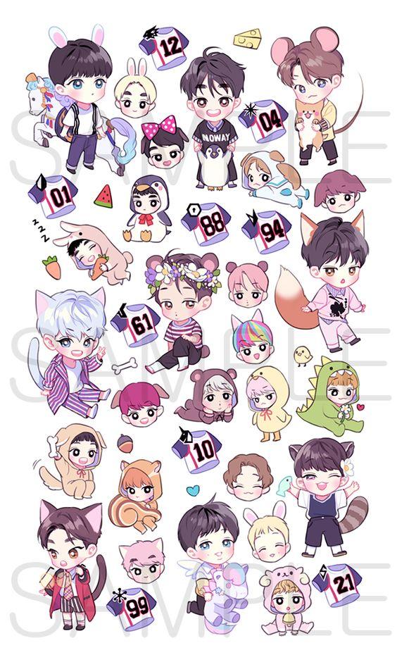 Tổng hợp hình ảnh BTS Chibi cực cute và đáng yêu 27