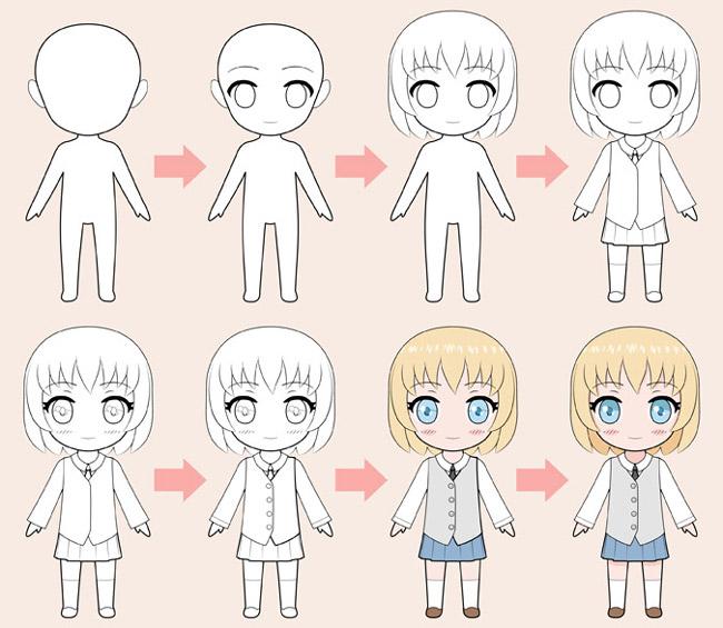 Vẽ nhân vật Anime Chibi từng bước