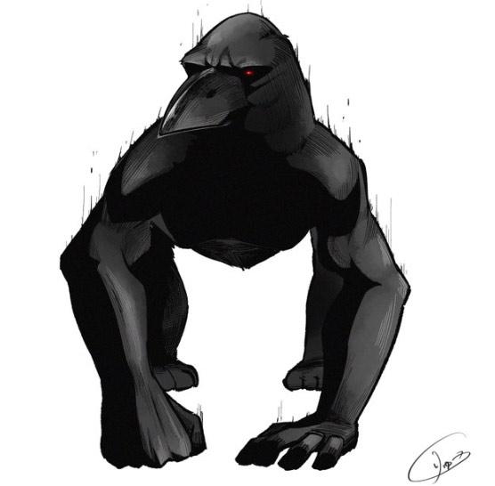 Siêu nhân quạ, bạn đã biết tới nhân vật anh hùng mới này chưa! (Ảnh: Twitter/@nbrnsk).
