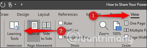 Cách sử dụng công cụ Learning trong Microsoft Word