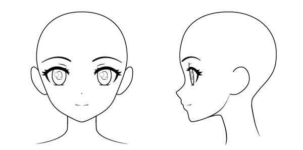 Khuôn mặt đầy đủ các chi tiết, bạn có thể thay đổi các kiểu tóc vào đây