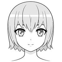 Hướng dẫn vẽ đầu và khuôn mặt nhân vật Anime nữ