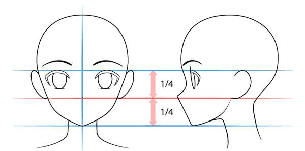 Vẽ mũi nhân vật anime nữ