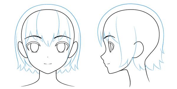 Vẽ tóc nhân vật anime nữ