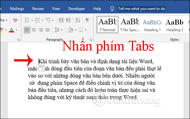 Cách thụt lề dòng đầu tiên trong Word - Ảnh minh hoạ 4