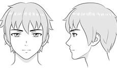 Hướng dẫn vẽ đầu và khuôn mặt nhân vật Anime nam