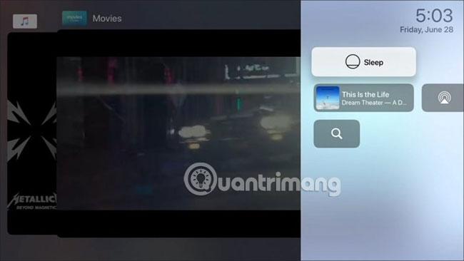 Sử dụng Control Center của Apple TV trên tvOS 13