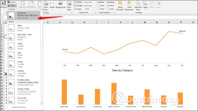 Cách sử dụng theme trong Excel - Ảnh minh hoạ 11