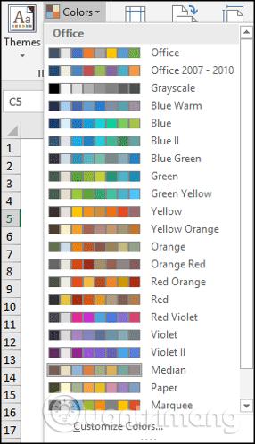 Cách sử dụng theme trong Excel - Ảnh minh hoạ 3