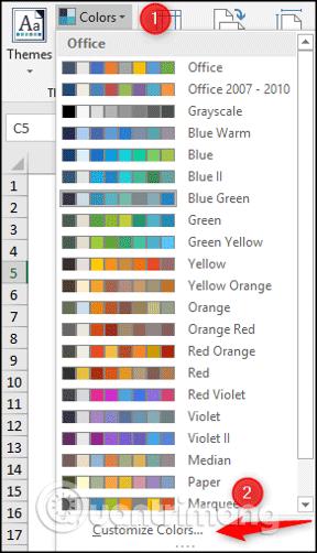 Cách sử dụng theme trong Excel - Ảnh minh hoạ 5