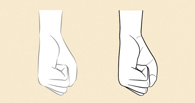Phác thảo hình dáng của nắm đấm
