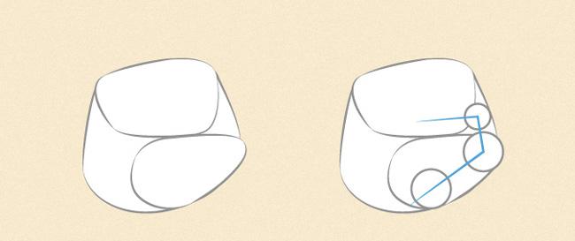 Vẽ nốt các ngón tay trên nắm đấm