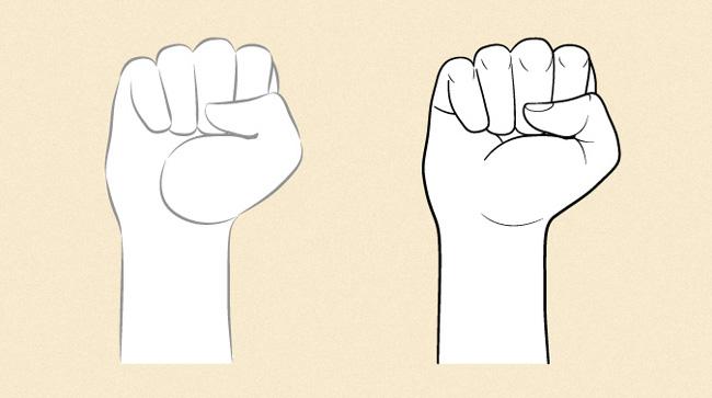 Phân biệt bàn tay nhân vật nam và nhân vật nữ