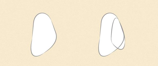 Vẽ ngón cái, ngón trỏ và ngón giữa từ góc nhìn một bên