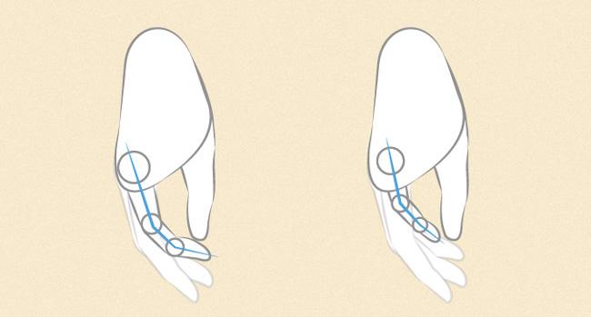 Vẽ các chi tiết để hoàn thiện bàn tay