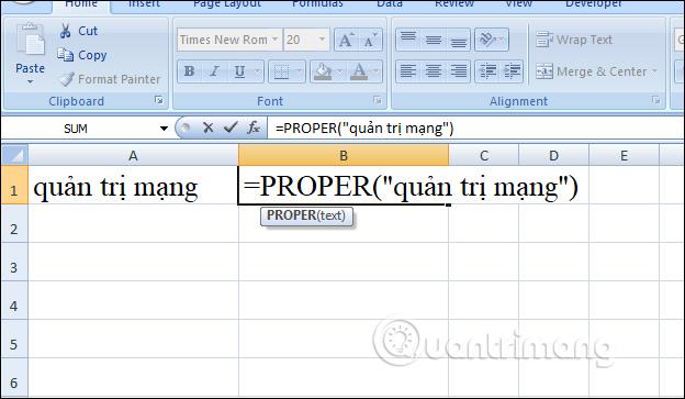 Cách viết hoa chữ cái đầu trong Excel - Ảnh minh hoạ 3