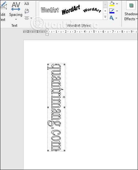 Kiểu chữ dọc trong WordArt