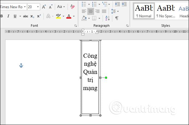 Chọn Shapes, Text box