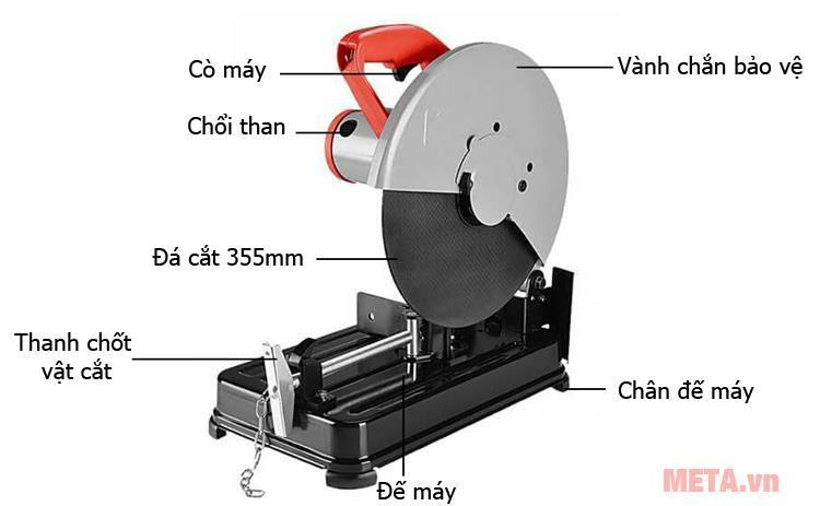 Máy cắt sắt để bàn BTEC BT356