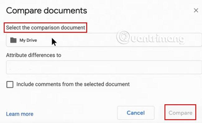 Cách so sánh hai tài liệu trong Google Docs - Ảnh minh hoạ 2