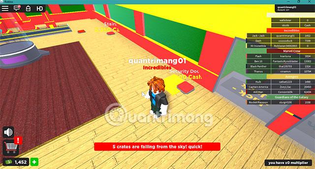 Kiếm tiền trong trò chơi Roblox Player