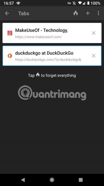 Tìm kiếm bằng ứng dụng di động DuckDuckGo