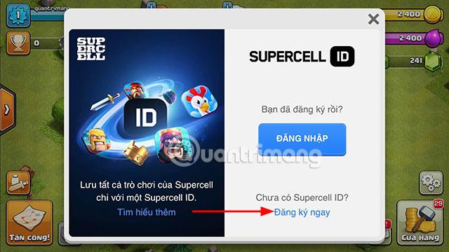Đăng ký ID Supercell