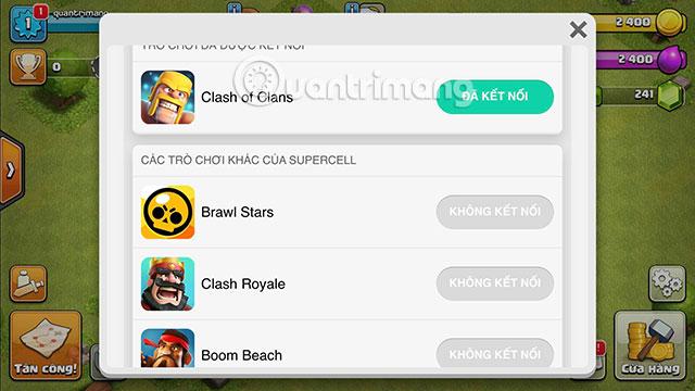 Danh sách các trò chơi phù hợp với ID Supercell
