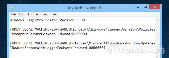 Cách tự tạo file hack Windows Registry - Ảnh minh hoạ 7