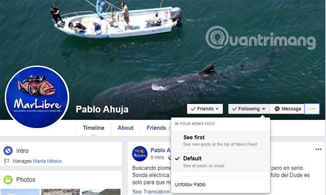 Unfollow và Follow trên Facebook là gì?