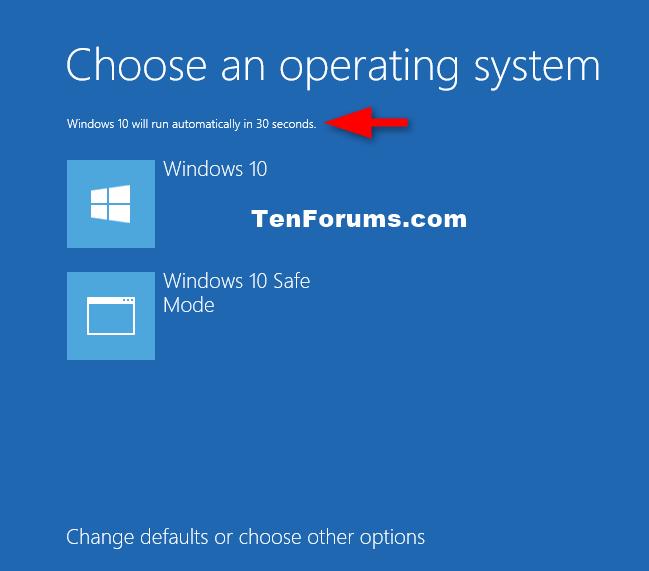 Màn hình chọn hệ điều hành