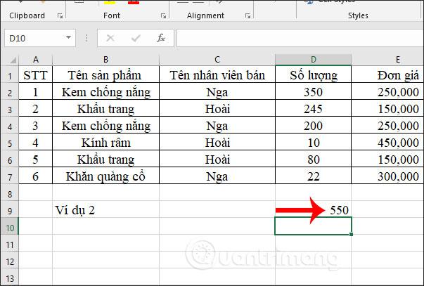 Hàm SUMIFS, cách dùng hàm tính tổng nhiều điều kiện trong Excel - Ảnh minh hoạ 5